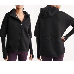 Abercrombie scuba hoodie asymmetrical zip jacket
